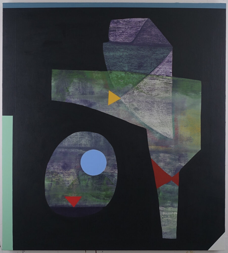 2628-I-21, 2021, acrylic on canvas on board, 40 x 36 inches